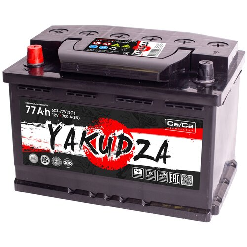 Автомобильный аккумулятор YAKUDZA 6СТ-77.1 VL