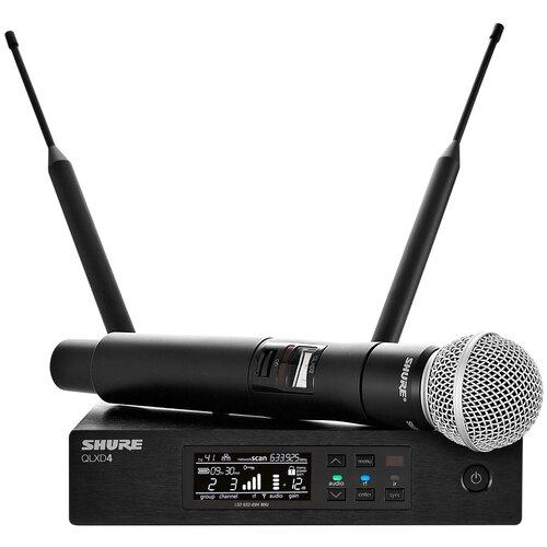 SHURE QLXD24E/SM58 G51 Вокальная радиосистема с ручным передатчиком SM58, частоты 470-534 MHz