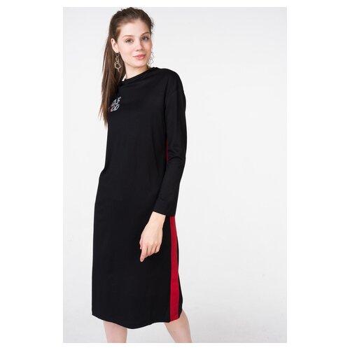платье befree 1911090507 женское цвет красный 70 однотонный р р 42 xs 170 Платье befree 1911149526/ женское Цвет Черный 55 Полоски р-р 42 XS/170