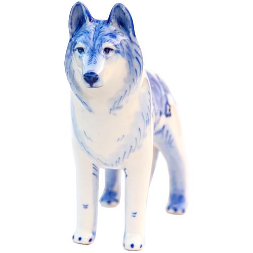 Статуэтка Волчья Собака Породистая Гжель