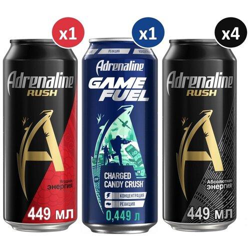 Фото - Энергетический напиток Adrenaline Rush Микс 3 вкуса, 0.449 л, 6 шт. энергетический напиток solar power 0 45 л 6 шт