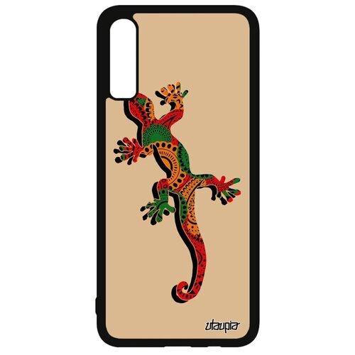подвески бижутерные aztek амулет защитный змей ёрмунганд Чехол на Samsung Galaxy A70, Саламандра Змей Амулет
