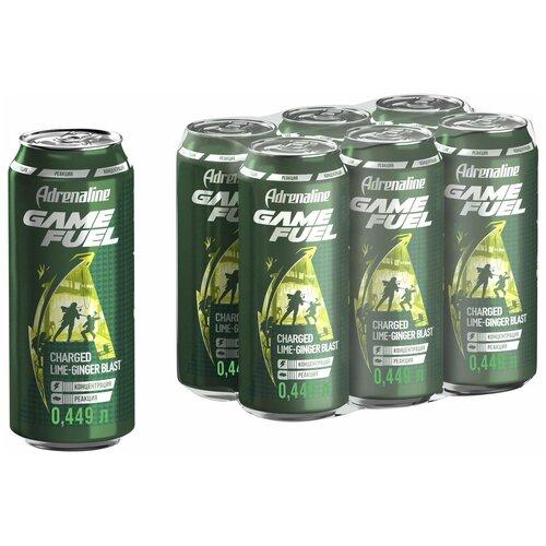 Фото - Энергетический напиток Adrenaline Game Fuel лайм-имбирь, 0.449 л, 6 шт. энергетический напиток solar power 0 45 л 6 шт