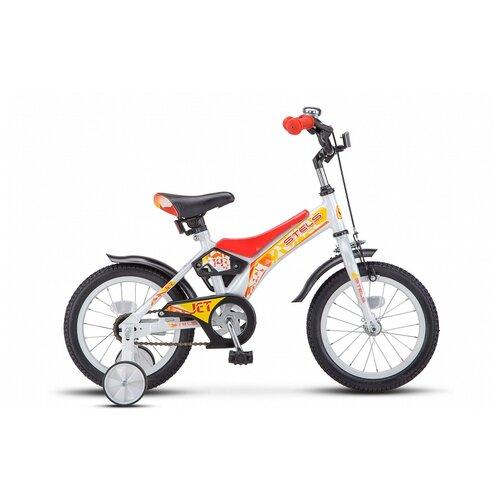 Детский велосипед STELS Jet 14 Z010 (2021) белый/красный (требует финальной сборки) детский велосипед stels jet 14 z010 2018 белый синий 8 5 требует финальной сборки