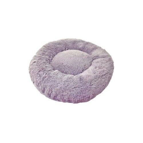 Лежак Зоогурман Пушистый сон 45х45х14 см серый