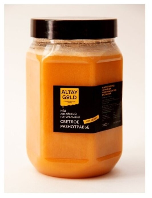 Купить Разнотравный светлый мед алтайский 1кг (2020г сбор) Altay Gold / Мёд натуральный Разнотравье Светлое по низкой цене с доставкой из Яндекс.Маркета