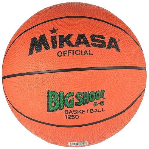 Баскетбольный мяч Mikasa 1250, р. 5 оранжевый