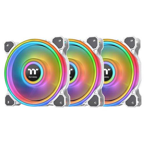 Комплект вентиляторов для корпуса Thermaltake Riing Quad 12 RGB Radiator Fan TT Premium Edition (3 Fan Pack) белый/ARGB 3 шт. + контроллер