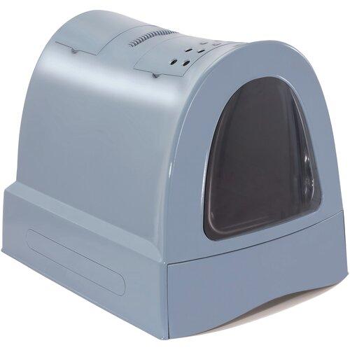 Туалет-домик для кошек Imac Zuma 40х56х42.5 см пепельно-синий