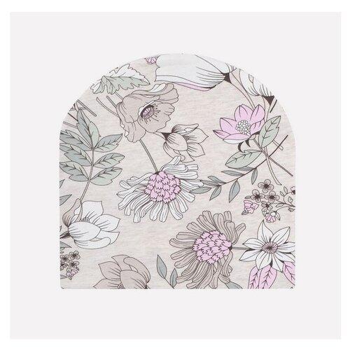 Купить Шапка crockid размер 54-56, светло-бежевый меланж/разноцветие, Головные уборы