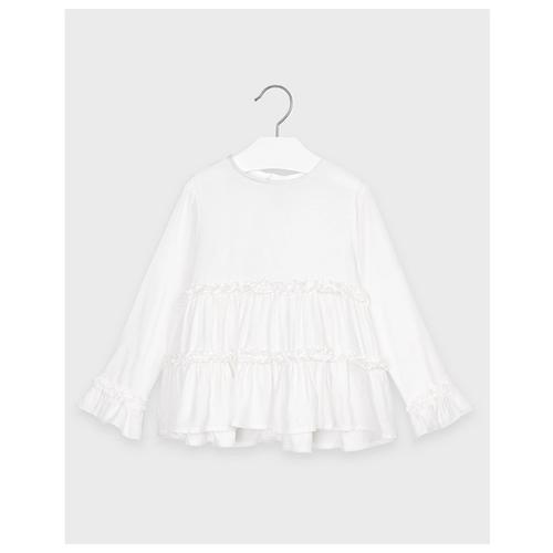 Купить Блузка Mayoral размер 128, белый, Рубашки и блузы