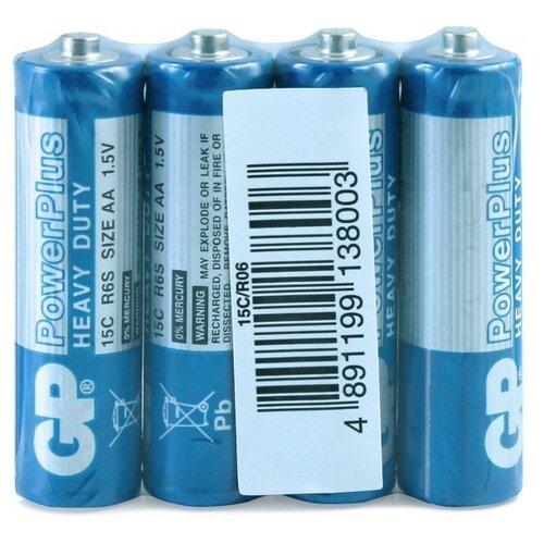 Фото - Батарейка GP PowerPlus AA R6, 4 шт. gp gpu811 и 4 аккум aa hr6 2700mah адаптер gpu811gs270aahc 2cr4