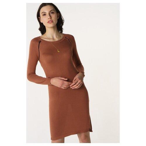 Платье Scotch & Soda 133.18FWLM.0788146598.0553 женское Цвет Коричневый Однотонный р-р 46 M