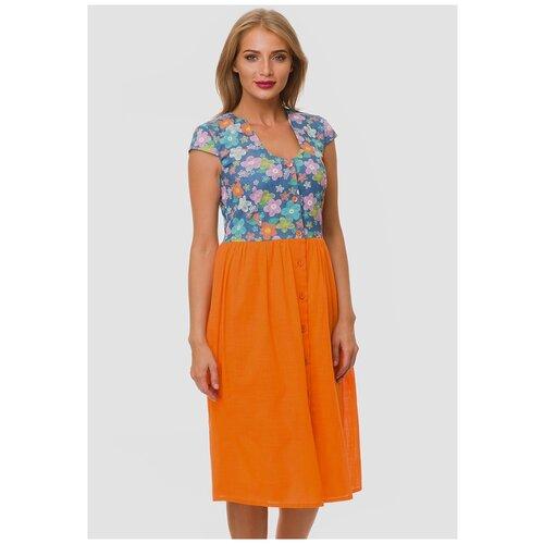 платье noisy may 27006197 женское цвет мультиколор mandarin red полоски р р 44 s Женское летнее платье Gabriela 5328-49 р.44