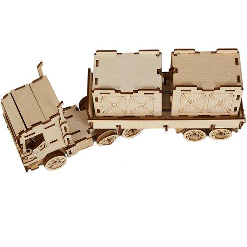 Грузовая фура игрушка - деревянный конструктор