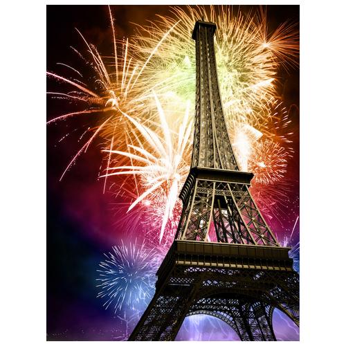 Купить Алмазная вышивка Яркие Грани Эйфелева башня , размер 50х67см, 56 цветов
