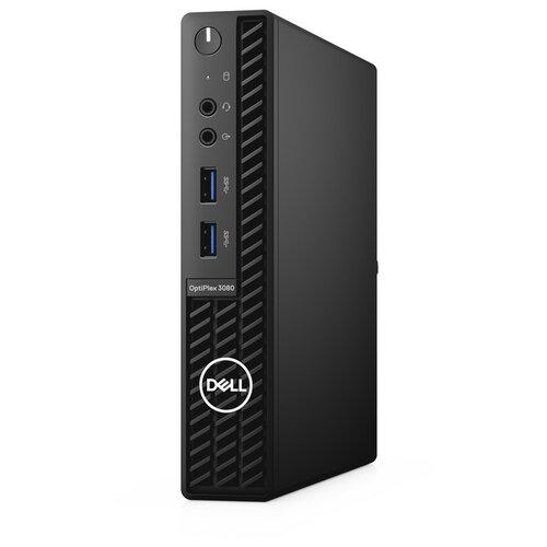 Настольный компьютер DELL OptiPlex 3080 Micro (3080-6643) Micro-Tower/Intel Core i3-10100T/8 ГБ/256 ГБ SSD/Intel UHD Graphics 630/Linux черный