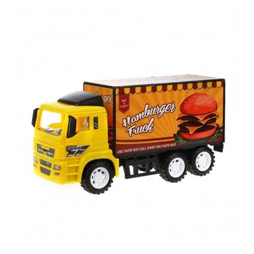 Купить Грузовик Наша игрушка XL003 30 см желтый/оранжевый, Машинки и техника