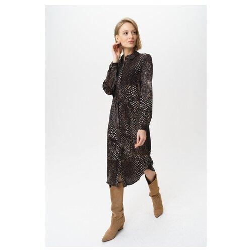 Платье Vero moda 10222939 женское Цвет Черный Black Анималистичный р-р 42 XS майка vero moda 10212778 размер xs черный