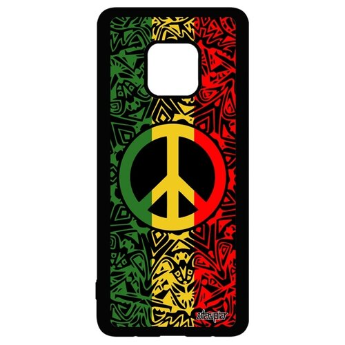 Чехол для Хуавей Мате 20 Про оригинальный дизайн Peace and Love Мир и Любовь Рисунок