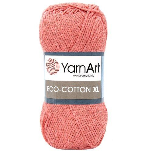 Купить Пряжа YarnArt 'Eco Сotton XL' 200гр 220м (85% хлопок, 15% полиэстер) (779 оранжевый), 5 мотков