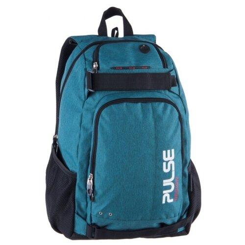 Рюкзак PULSE SCATE GREEN, 48х36х23см pulse рюкзак pulse scate black dot