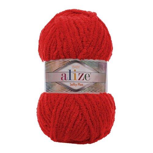 Купить Пряжа для вязания Alize 'Softy Plus' 100г 120м (100% микрополиэстер) (56 красный), 5 мотков