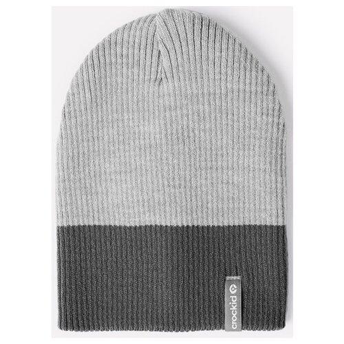 Купить Шапка crockid размер 54-56, темно-серый меланж/светло-серый меланж, Головные уборы