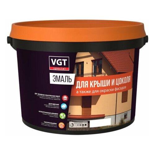 VGT Эмаль для крыши и цоколя, шоколадная 2.5кг