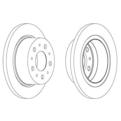 Фото - Тормозной диск Ferodo DDF1823 для Citroen JUMPER; Fiat DUCATO; Peugeot BOXER тормозной диск задний miles k010676 280x16 для citroen jumper fiat ducato peugeot boxer