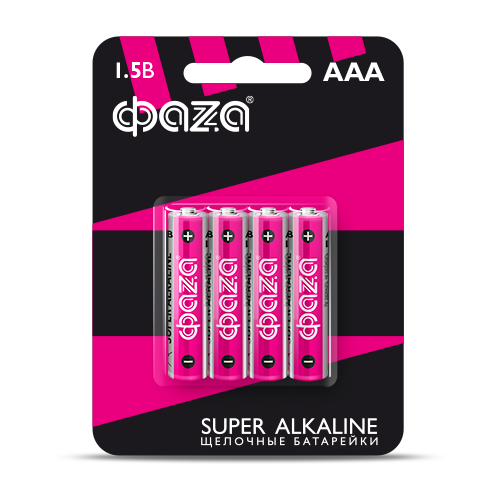 Фото - Батарейка ФАZA AAA/LR03 Super Alkaline, 4 шт. батарейка фаza aaa r03 heavy duty 4 шт