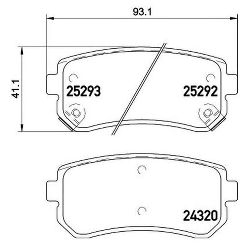Комплект тормозных колодок Hella 8DB 355 016-221
