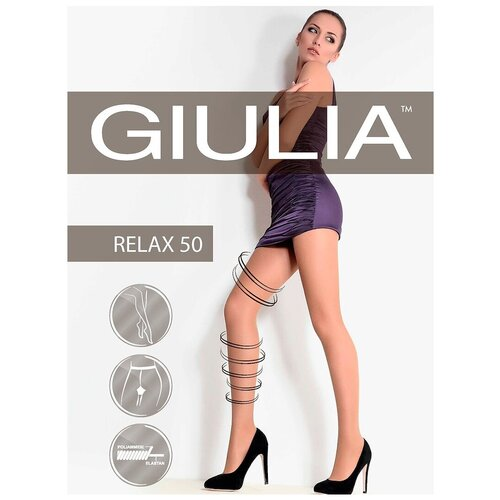 колготки женские levante relax 40 цвет glace темно бежевый размер xxl 5 Колготки Giulia Relax, 50 den, размер 2-S, glace (бежевый)
