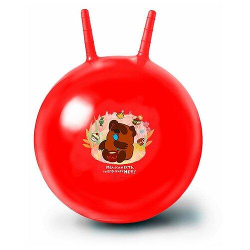 Мяч-попрыгун ЯиГрушка Винни Пух, 50 см, красный