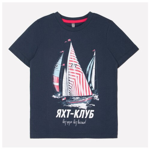 Фото - Футболка crockid, размер 122, индиго к244 футболка crockid размер 122 леденец