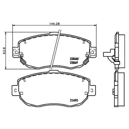 Фото - Комплект тормозных колодок Textar 2149001 [складские помещения сша] 1 комплект 4 передних 756 d1506 керамических тормозных колодок