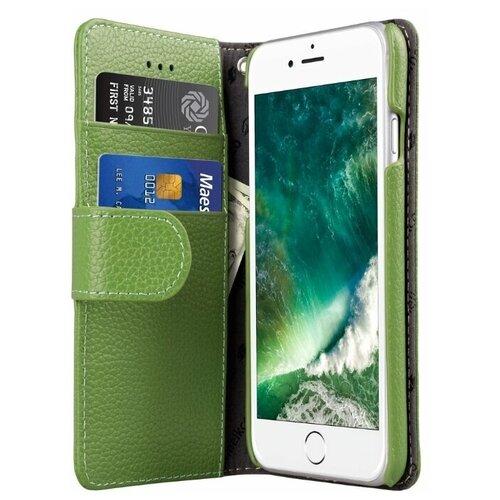 Фото - Чехол-книжка Melkco Wallet Book Type для Apple iPhone 7/iPhone 8 зеленый чехол для планшета deppa wallet stand для планшетов 7 8 зеленый [84086]