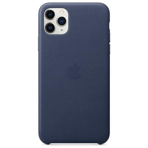 Чехол-накладка Apple кожаный для iPhone 11 Pro Max темно-синий