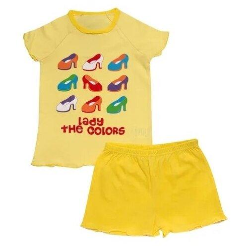 Купить Пижама Клякса размер 116, желтый, Домашняя одежда