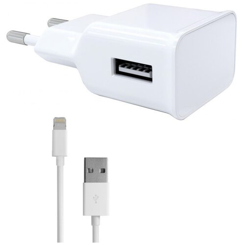 Фото - Зарядное устройство Red Line NT-1A 1xUSB 1A + кабель 8pin для Apple White УТ000013626 зарядное устройство red line tech ac 1a 1xusb 1a cable micro usb black ут000021136