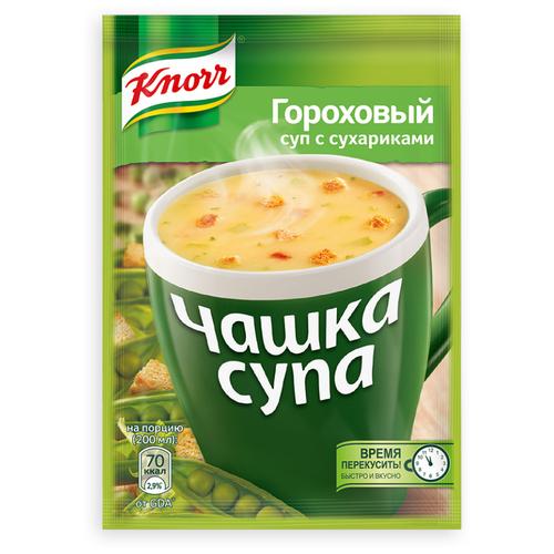 Knorr Чашка супа Гороховый суп с сухариками, 21 г knorr чашка супа куриный суп с лапшой 13 г
