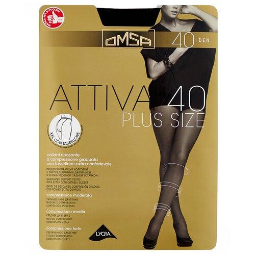 Колготки Omsa Attiva Plus Size, 40 den, размер 6-XXL, nero (черный)