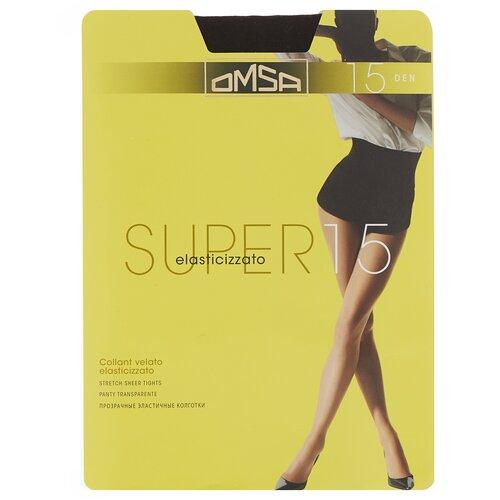Колготки Omsa Super, 15 den, размер 5-XL, fumo (серый)