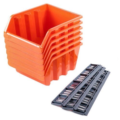 Набор лотков BLOCKER BR3753 24.5x17x12.5 см оранжевый