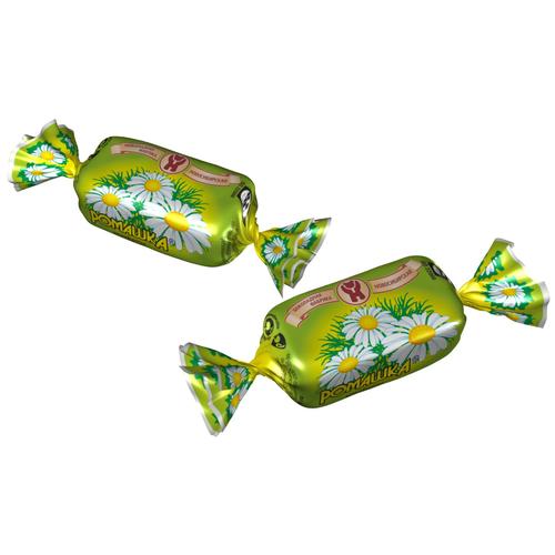Конфеты Шоколадная фабрика Новосибирская Ромашка, помадная начинка, пакет, 1 кг