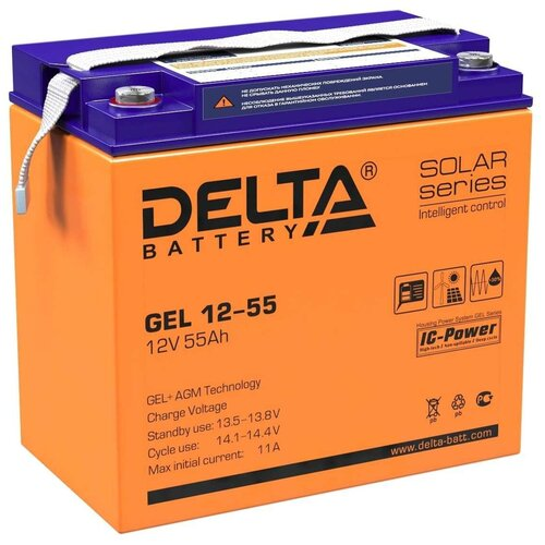 Аккумуляторная батарея DELTA Battery GEL 12-55
