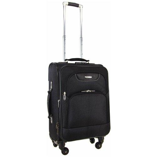 Фото - Чемодан Rion+ 432 59 л, черный чемодан rion 418 3 62 л серый