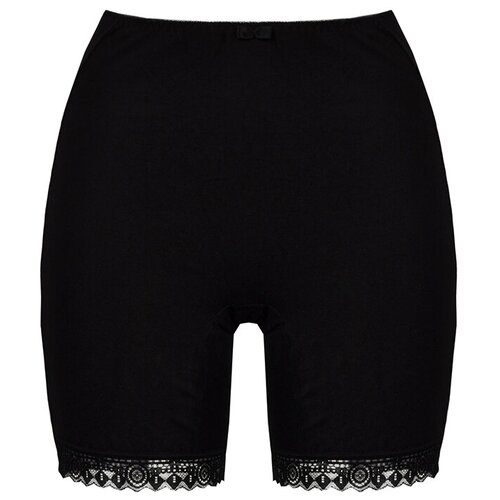 Alla Buone Трусы панталоны высокой посадки, размер 4XL(56), черный