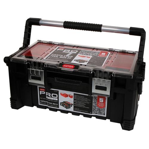 Фото - Ящик с органайзером KETER Cantilever tool box 22 (17187311) 56.7x31.4x24.5 см 22'' черный ящик keter 2 drawers tool chest 17199303 56 2x28 9x26 2 см 22 красный