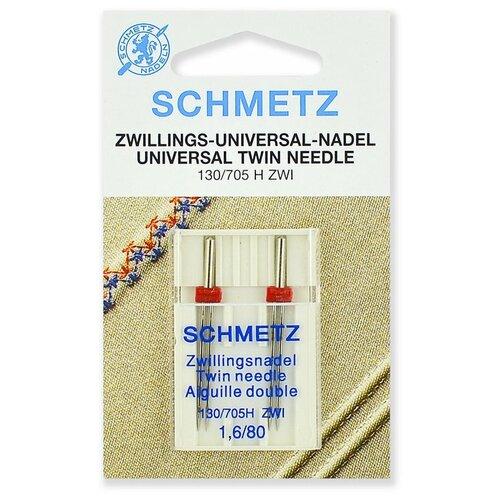 Игла/иглы Schmetz 130/705 H ZWI 1.6/80 двойные универсальные серебристый игла иглы schmetz 130 705 h zwi 4 90 двойные универсальные серебристый